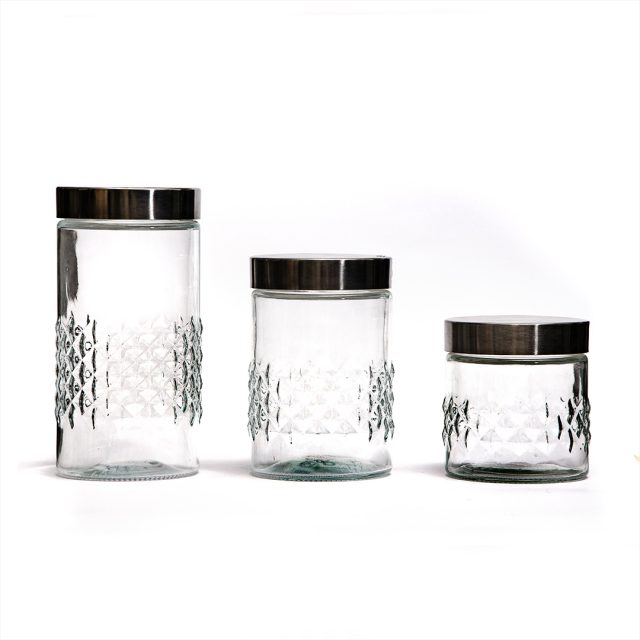 Conjunto 3 Potes de Vidro Euro Principal 7490