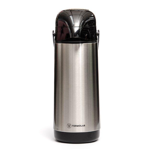 Garrafa Termica Magic Pump 1L Inox Termolar Principal